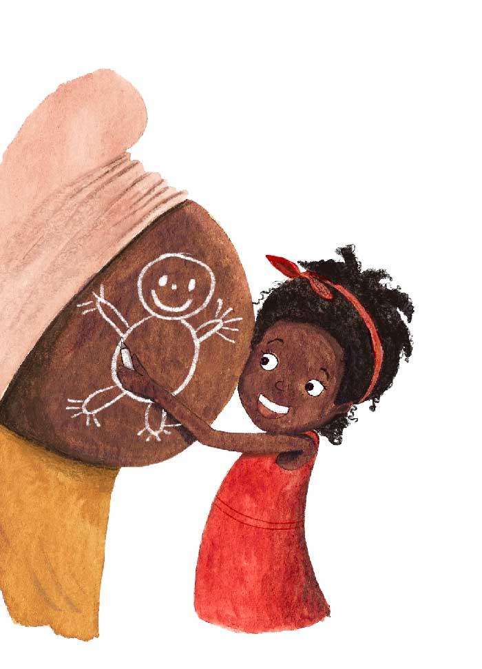 Prentenboek Bolle Buiken en Blije Baby's - iov van Clavis ©MariannevanderWalle