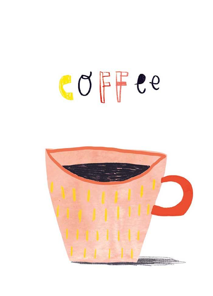 Coffee - Onderdeel van collectie postkaartjes ©MariannevanderWalle