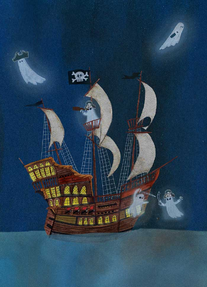 Haunted ship - Eigen werk ©MariannevanderWalle