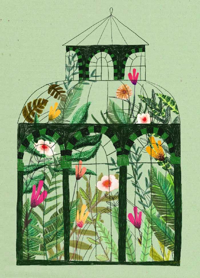 Hortus Botanicus - Onderdeel van collectie postkaartjes ©MariannevanderWalle