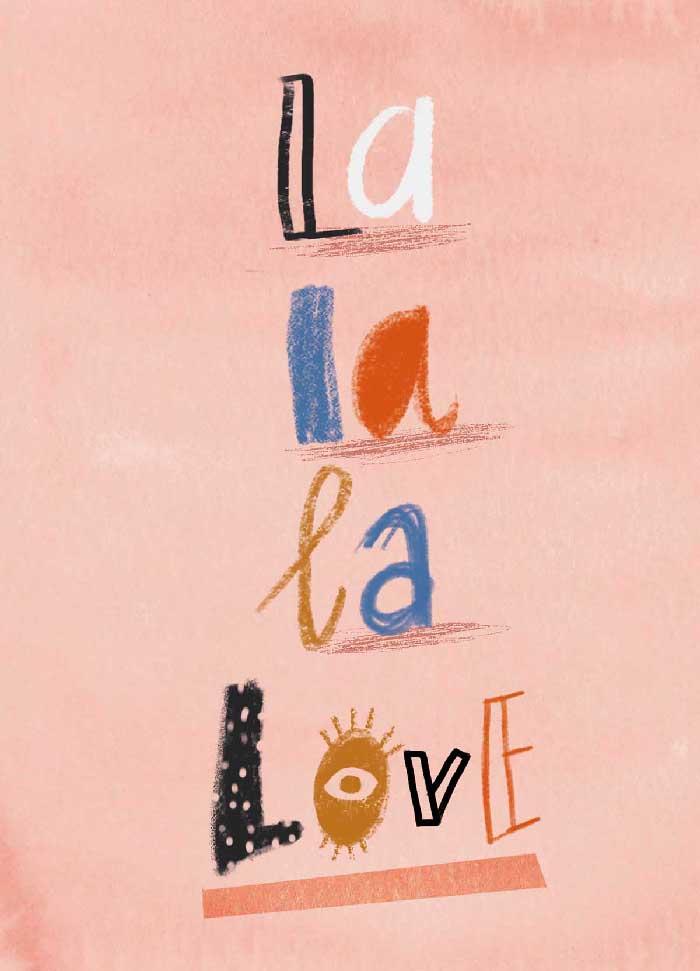 La la love - Onderdeel van collectie postkaartjes ©MariannevanderWalle