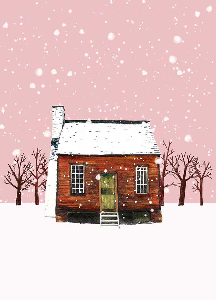 Let it snow - Onderdeel van collectie postkaartjes ©MariannevanderWalle