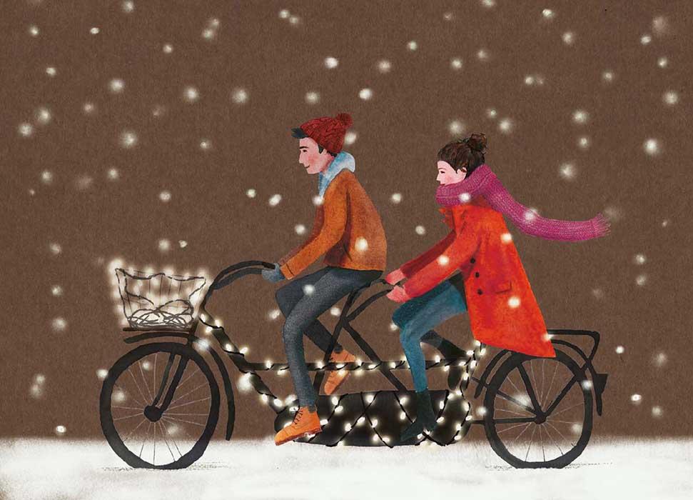 Snowbike - Onderdeel van collectie postkaartjes ©MariannevanderWalle