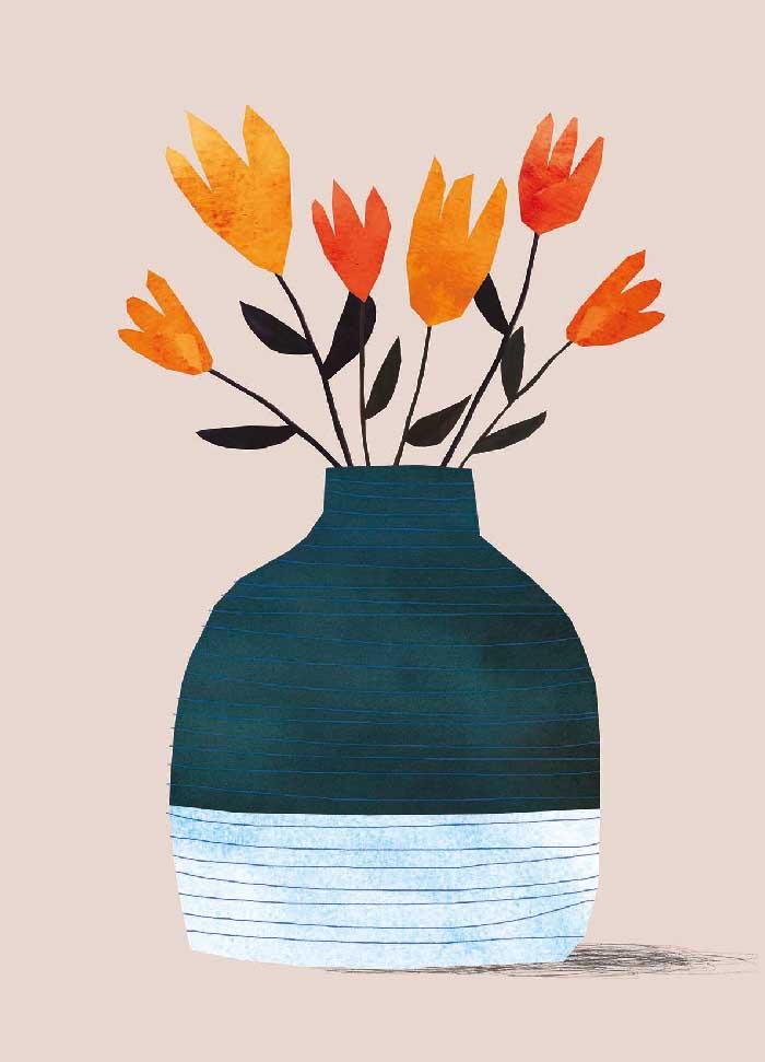 Vase NL - Onderdeel van collectie postkaartjes ©MariannevanderWalle