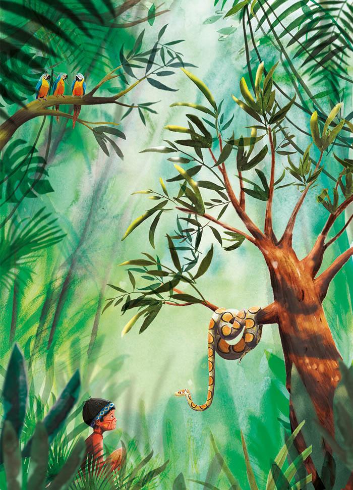 Illustratie Marianne van der Walle jungle