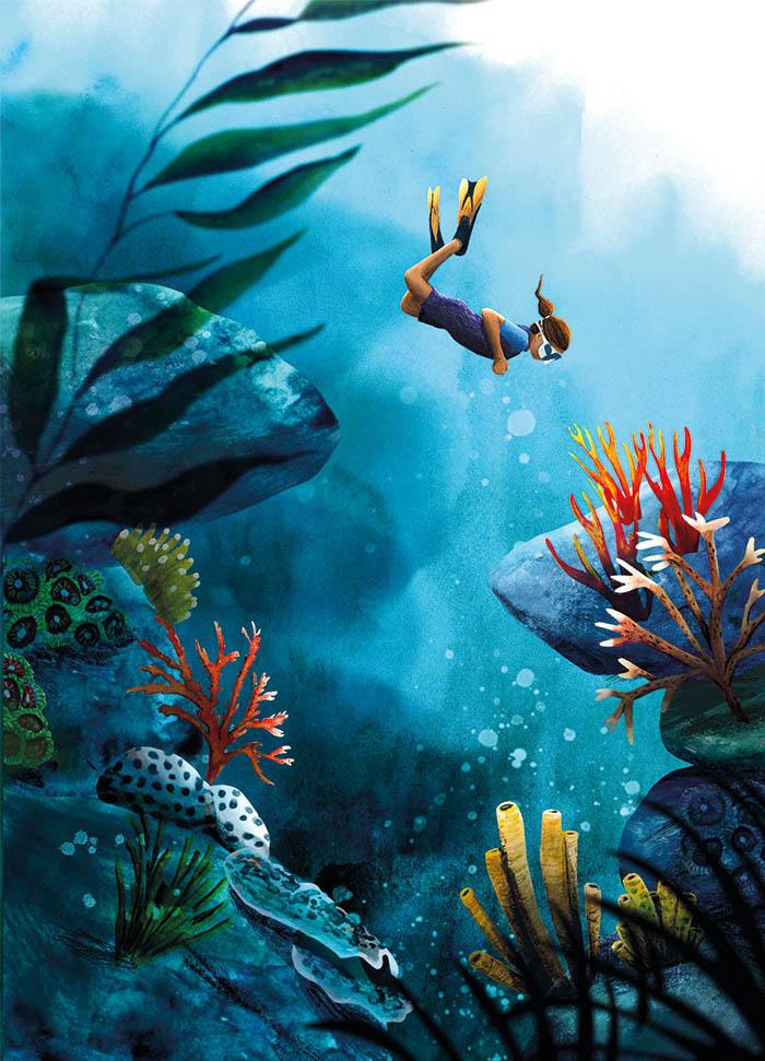 Illustratie Marianne van der Walle deep sea
